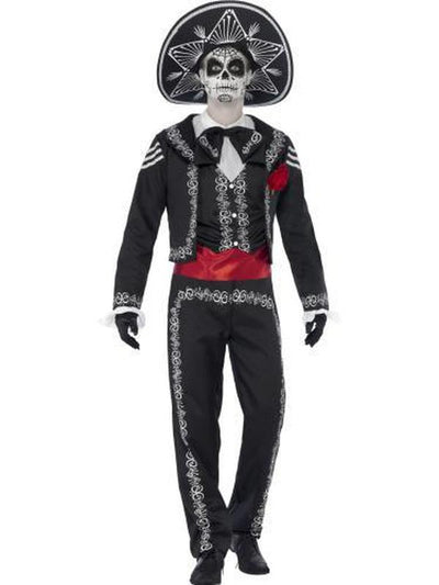 Day of the Dead Se±or Bones Costume-Costumes - Mens-Jokers Costume Hire and Sales Mega Store