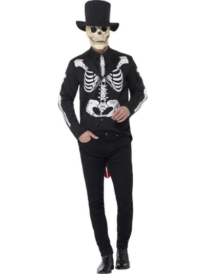 Day of the Dead Se±or Skeleton Costume-Costumes - Mens-Jokers Costume Hire and Sales Mega Store
