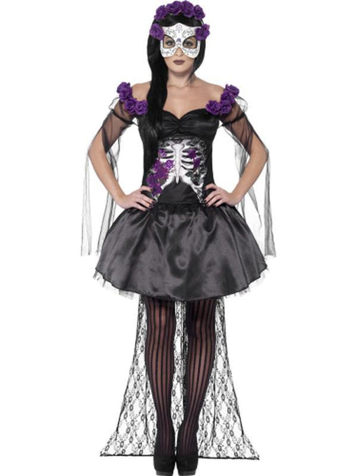 Day of the Dead Senorita Costume, Black-Costumes - Women-Jokers Costume Hire and Sales Mega Store