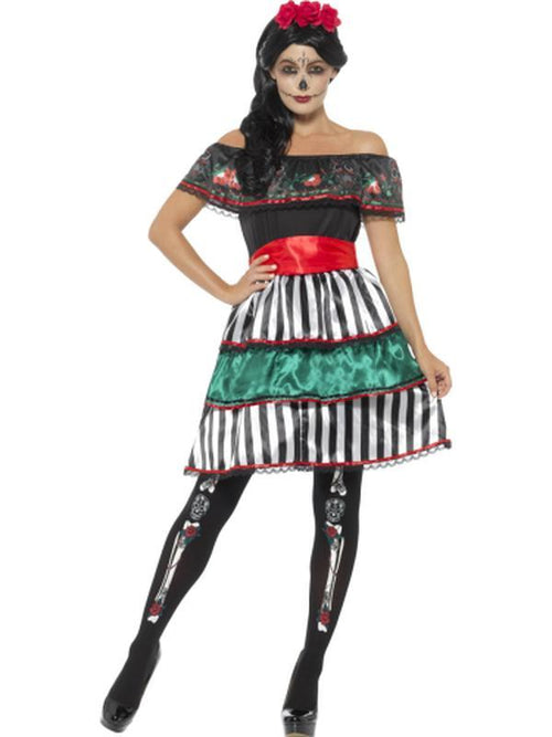Day of the Dead Senorita Doll Costume-Costumes - Women-Jokers Costume Hire and Sales Mega Store