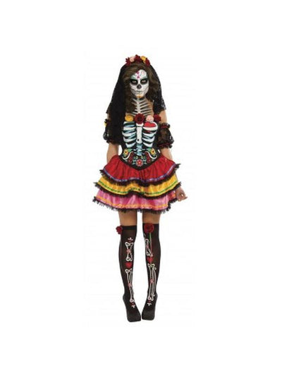 Day Of The Dead Senorita - Size Xl-Costumes - Women-Jokers Costume Hire and Sales Mega Store