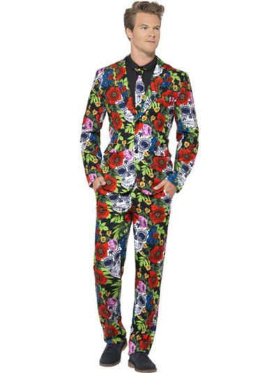 Day of the Dead Suit-Costumes - Mens-Jokers Costume Hire and Sales Mega Store