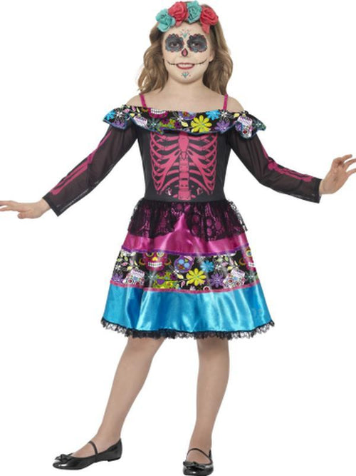 Day of the Dead Sweetheart Costume-Costumes - Girls-Jokers Costume Hire and Sales Mega Store