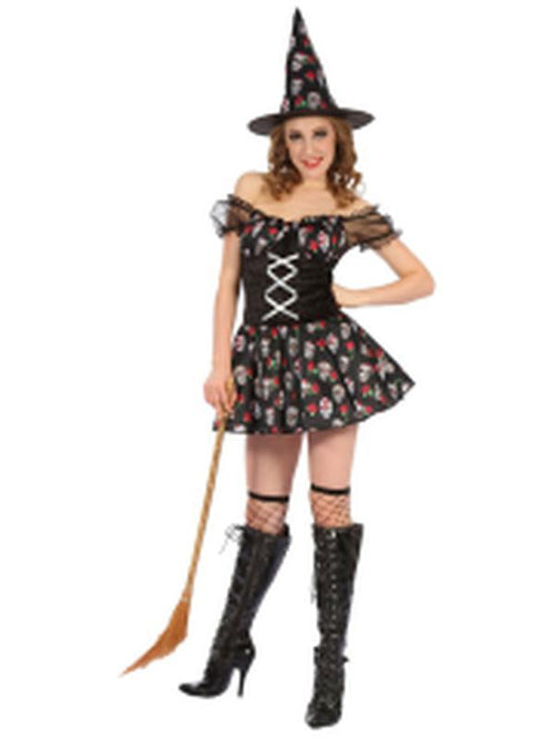 Day of the Dead Witch - Adult - Medium-Costumes - Women-Jokers Costume Hire and Sales Mega Store