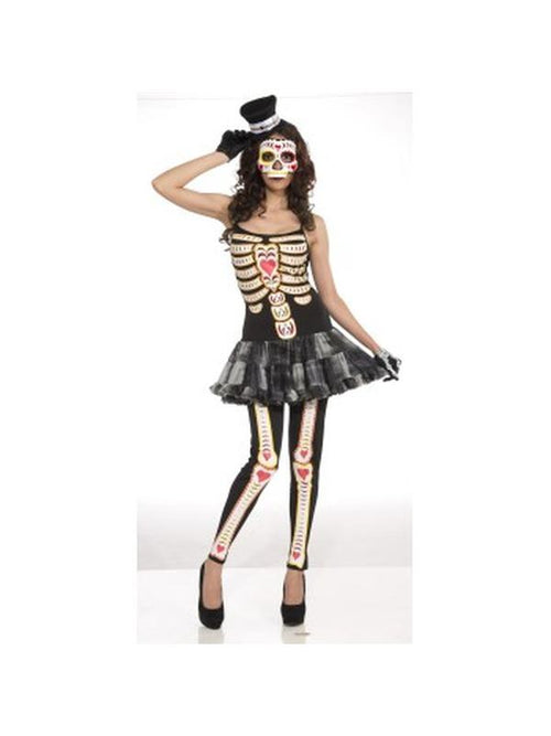 Day Of The Dead Womens - Size Std-Costumes - Women-Jokers Costume Hire and Sales Mega Store