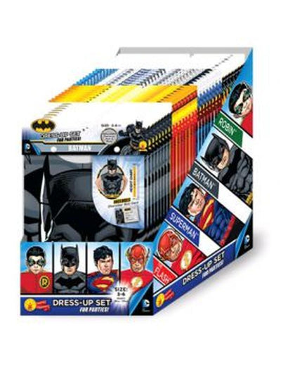 Dc Comics Boys Partytime Asst - 32 Pack-Costumes - Boys-Jokers Costume Hire and Sales Mega Store