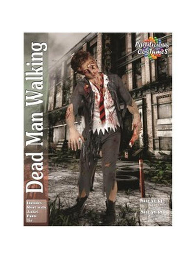 Dead Man Walking Zombie-Costumes - Mens-Jokers Costume Hire and Sales Mega Store