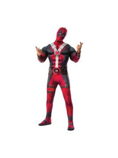 Deadpool Movie Deluxe Adult - Size Std-Costumes - Mens-Jokers Costume Hire and Sales Mega Store