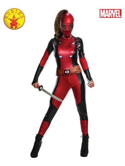 DEADPOOL SECRET WISHES COSTUME - SIZE L-Costumes - Women-Jokers Costume Hire and Sales Mega Store