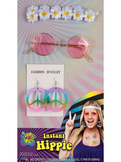 Decades Instant Kit - 60s Hippie Girl-Costume Accessories-Jokers Costume Hire and Sales Mega Store