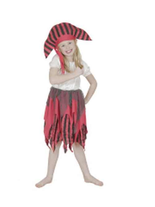 Deckhand Pirate Child Costume - Size 3-5-Costumes - Girls-Jokers Costume Hire and Sales Mega Store