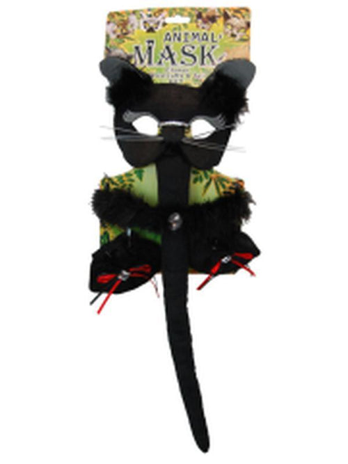 Deluxe 5pc Animal Set - Cat-Masks - Animal-Jokers Costume Hire and Sales Mega Store