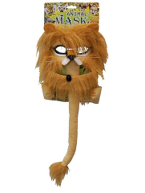 Deluxe 5pc Animal Set - Lion-Masks - Animal-Jokers Costume Hire and Sales Mega Store
