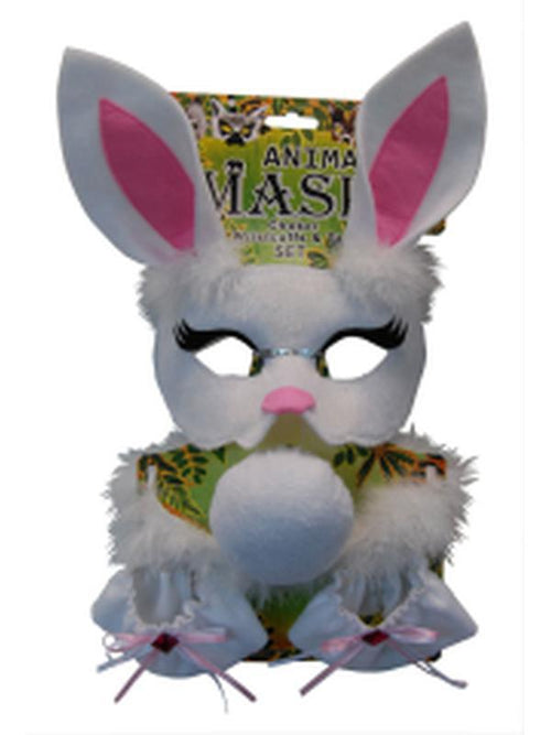 Deluxe 5pc Animal Set - Rabbit-Masks - Animal-Jokers Costume Hire and Sales Mega Store
