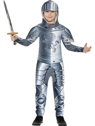 Deluxe Armoured Knight Costume-Costumes - Boys-Jokers Costume Hire and Sales Mega Store