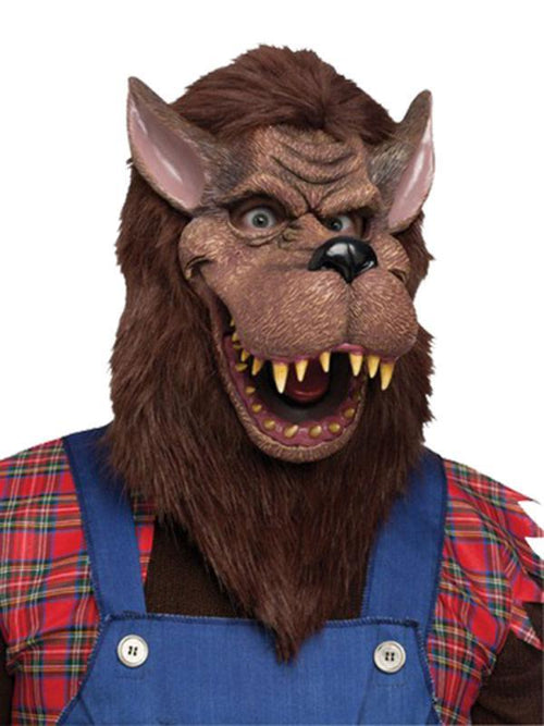 Deluxe Big Bad Wolf Mask - Adult-Masks - Animal-Jokers Costume Hire and Sales Mega Store