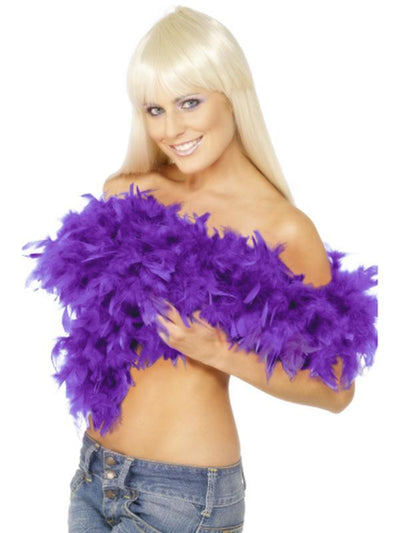 Deluxe Boa - Purple-Costume Accessories-Jokers Costume Hire and Sales Mega Store