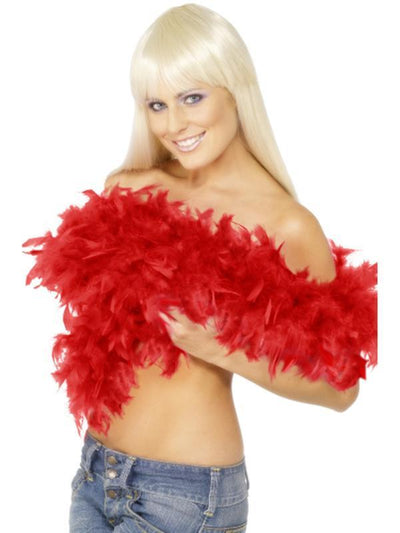 Deluxe Boa - Red-Costume Accessories-Jokers Costume Hire and Sales Mega Store