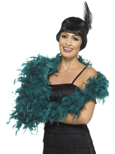 Deluxe Boa - Teal-Costume Accessories-Jokers Costume Hire and Sales Mega Store
