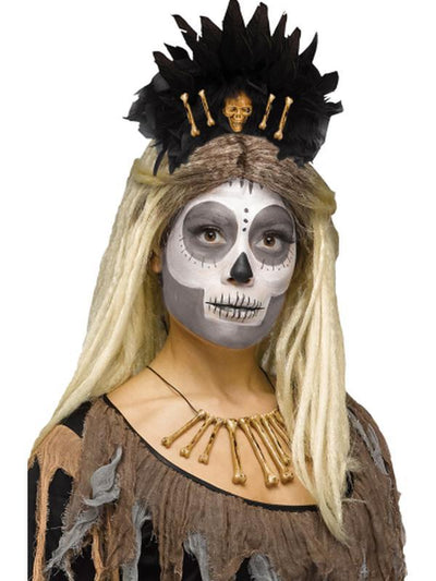 Deluxe Character Headpiece - Voodoo Queen-Hats and Headwear-Jokers Costume Hire and Sales Mega Store