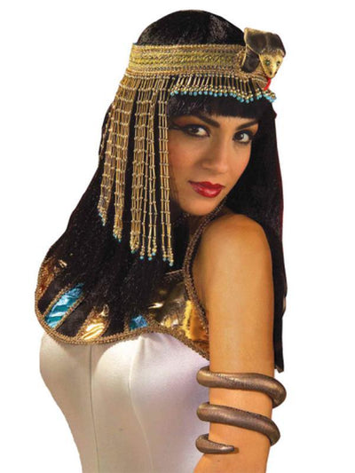 Deluxe Cleopatra Cobra Headpiece w/Bead-Costume Accessories-Jokers Costume Hire and Sales Mega Store