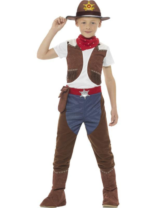 Deluxe Cowboy Costume-Costumes - Boys-Jokers Costume Hire and Sales Mega Store