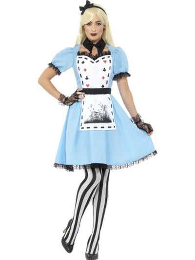 Deluxe Dark Tea Party Costume, with Dress-Costumes - Women-Jokers Costume Hire and Sales Mega Store