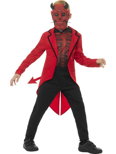 Deluxe Day of the Dead Devil Boy Costume-Costumes - Boys-Jokers Costume Hire and Sales Mega Store