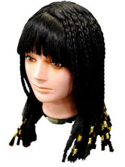 Deluxe Egyptian Cleopatra Wig w/Gold-Wigs-Jokers Costume Hire and Sales Mega Store