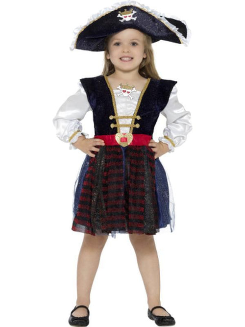 Deluxe Glitter Pirate Girl Costume-Costumes - Girls-Jokers Costume Hire and Sales Mega Store
