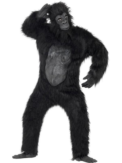 Deluxe Gorilla Costume - Black-Costumes - Mens-Jokers Costume Hire and Sales Mega Store