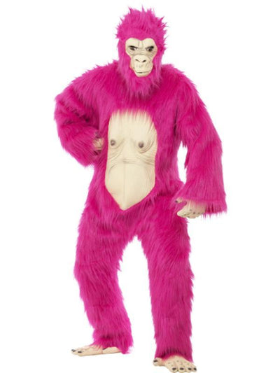 Deluxe Gorilla Costume - Neon Pink-Costumes - Mens-Jokers Costume Hire and Sales Mega Store