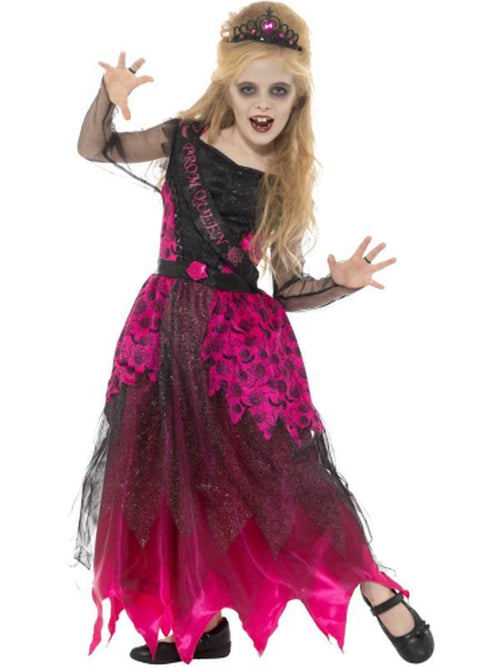 Deluxe Gothic Prom Queen Costume-Costumes - Girls-Jokers Costume Hire and Sales Mega Store