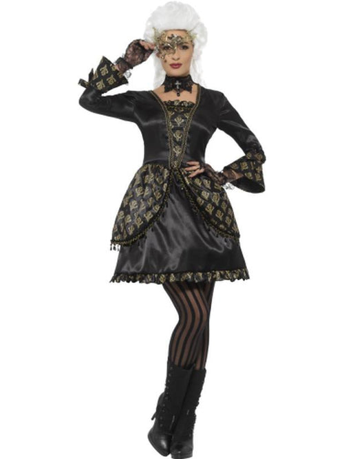 Deluxe Masquerade Costume-Costumes - Women-Jokers Costume Hire and Sales Mega Store
