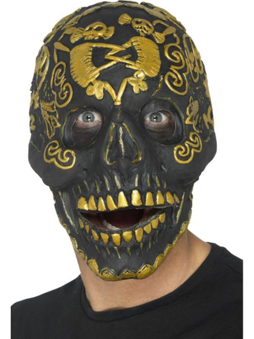 Deluxe Masquerade Skull Mask-Masks - Masquerade-Jokers Costume Hire and Sales Mega Store