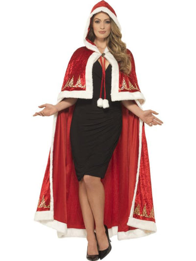 Deluxe Miss Claus Cape-Costume Accessories-Jokers Costume Hire and Sales Mega Store