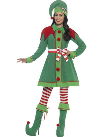 Deluxe Miss Elf Costume-Jokers Costume Mega Store