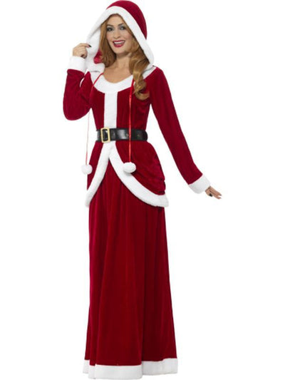 Deluxe Ms Claus Costume-Costumes - Women-Jokers Costume Hire and Sales Mega Store