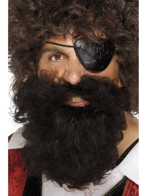 Deluxe Pirate Beard - Brown-Beards and Moustaches-Jokers Costume Hire and Sales Mega Store
