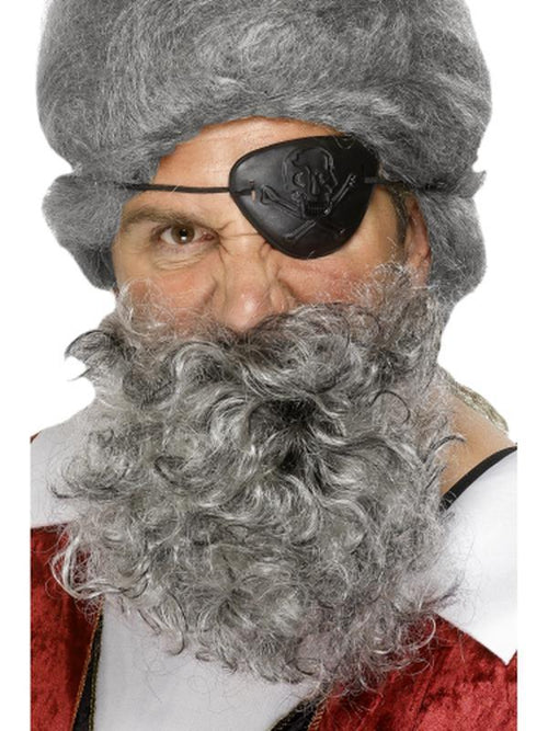 Deluxe Pirate Beard - Light Grey-Beards and Moustaches-Jokers Costume Hire and Sales Mega Store