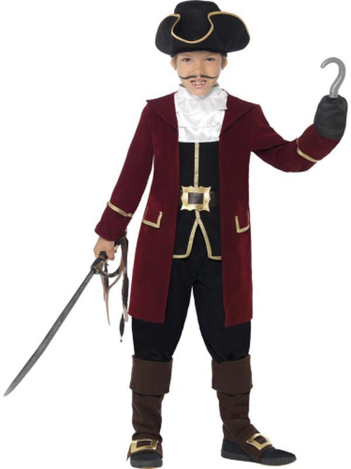 Deluxe Pirate Captain Costume-Costumes - Boys-Jokers Costume Hire and Sales Mega Store