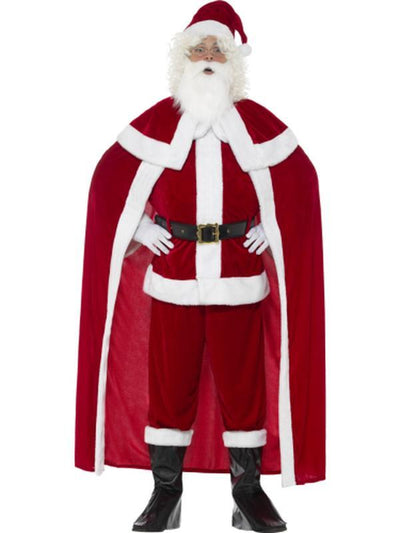 Deluxe Santa Claus Costume with Trousers-Costumes - Mens-Jokers Costume Hire and Sales Mega Store