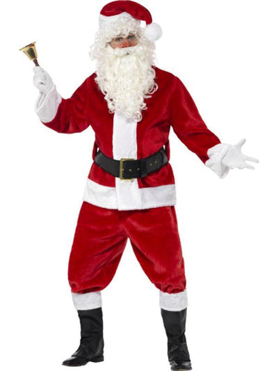 Deluxe Santa Costume & Hat-Costumes - Mens-Jokers Costume Hire and Sales Mega Store