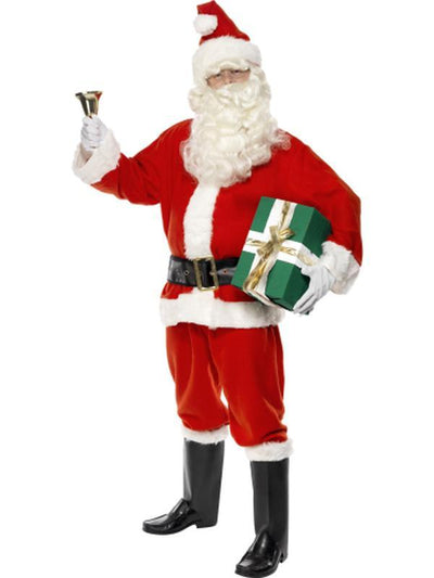 Deluxe Santa Costume, Including Gloves-Costumes - Mens-Jokers Costume Hire and Sales Mega Store