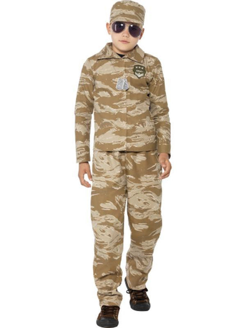 Desert Army Costume-Costumes - Boys-Jokers Costume Hire and Sales Mega Store