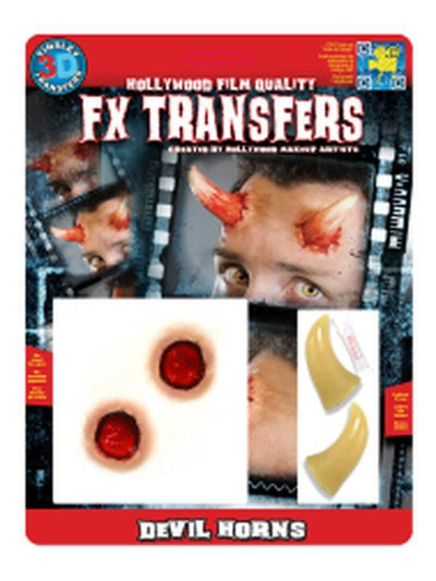 Devil Horns 3D FX Transfer - Medium-Jokers Costume Mega Store