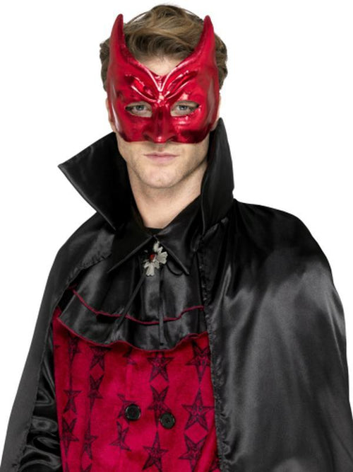 Devil Masquerade Eyemask-Masks - Masquerade-Jokers Costume Hire and Sales Mega Store