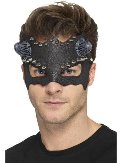 Devil Studded Eyemask-Masks - Masquerade-Jokers Costume Hire and Sales Mega Store