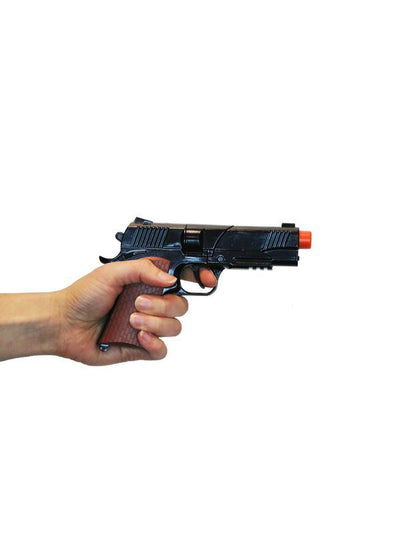 Diecast Automatic Pistol Realistic Blk-Weapons-Jokers Costume Hire and Sales Mega Store