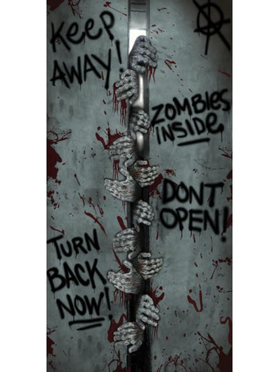 Door Cover - Zombie-Halloween Props and Decorations-Jokers Costume Hire and Sales Mega Store